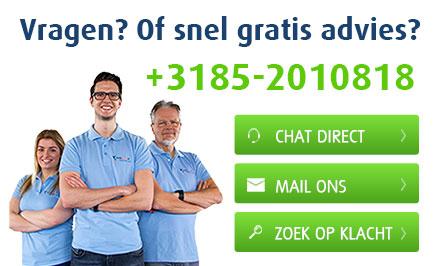 Vragen? Of snel gratis advies?