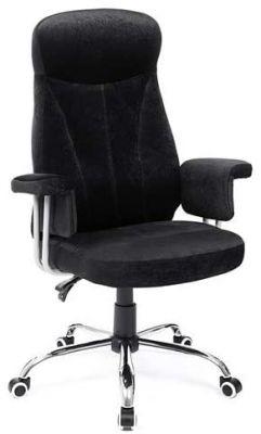360 Draaibare Bureaustoel - Verstelbare zithoogte -  en verstelbare armleuning Zwart