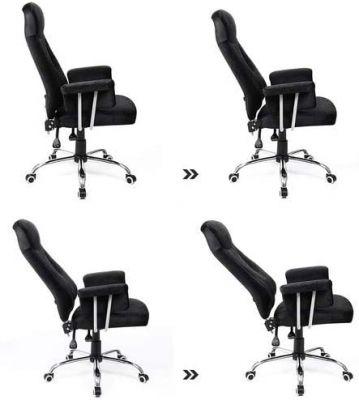 360 Draaibare Bureaustoel - Verstelbare zithoogte - Zwart