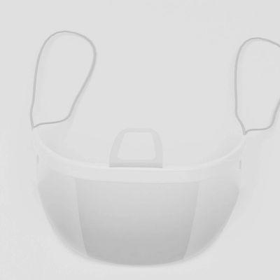 Transparant plastic mondkapje