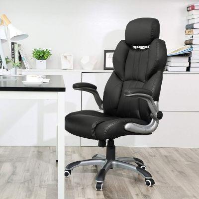 Luxe bureaustoel met verstelbaar hoofdsteun OGBN65BK