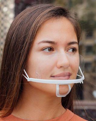 Transparant plastic mondkapje - 3 stuks