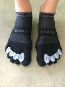 Jubelteen / Jubeltenen spalk kunnen ook over sokken gebruikt worden
