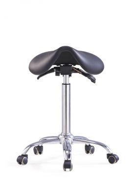 Ergolution - Hoge ergonomische zadelkruk met kantelbare zitting - Zwart