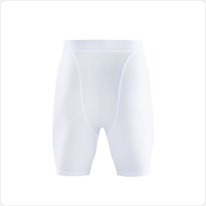Gladiator Compressie broek / liesbroek wit achterkant