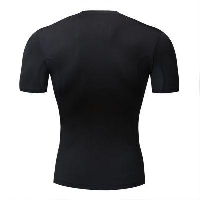 Gladiator compressie shirt zwart achterkant