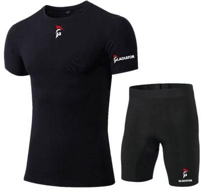 Gladiator Compressie broek en shirts zwart