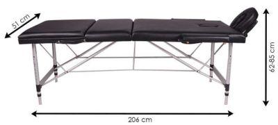 Medidu Massagetafel aluminium frame