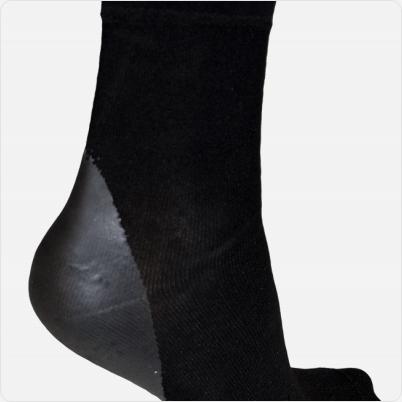 Solelution Sokken met siliconen gel hiel buitenkant