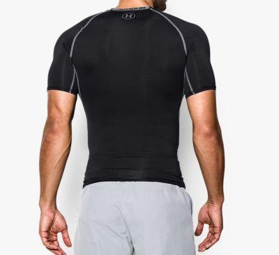 Under Armour HeatGear Compressie shirt - Heren zwart