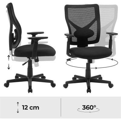 Ergonomische bureaustoel met verstelbare armleuningen