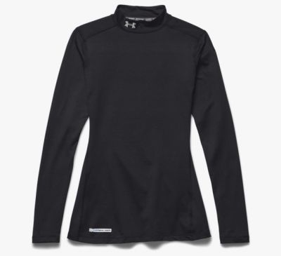 Under Armour ColdGear® Dames shirt zwart