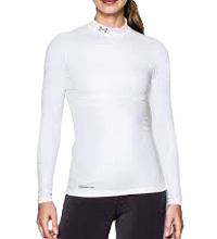 Damesmock Under Armour ColdGear® Compressie Shirt wit