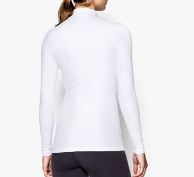 Under Armour ColdGear® Compressie Shirt dames wit