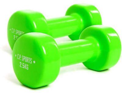 dumbell set groen 2,5 kilogram