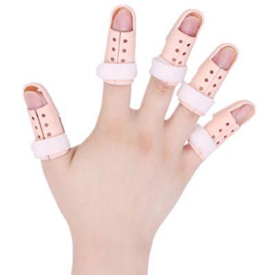 dunimed mallet finger vingerspalk spalken om elke vinger gedragen