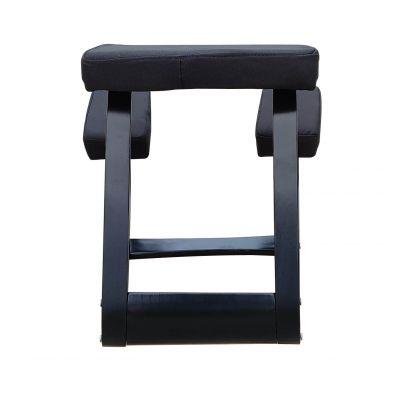 ergolution ergonomische kniestoel zwart achter aanzicht