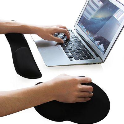 ergolution ergonomische muismat naast laptop