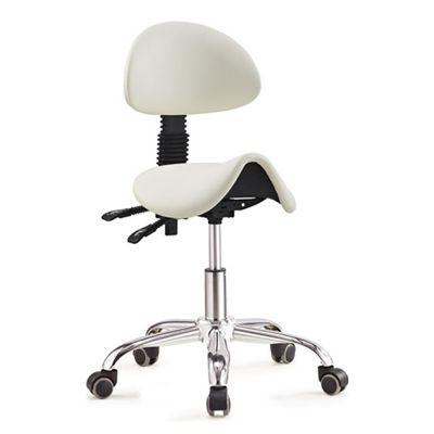 ergolution ergonomische zadelkruk met rugleuning wit kopen