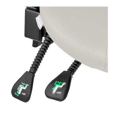 ergolution ergonomische zadelkruk met rugleuning wit hendels