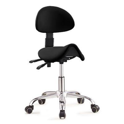 ergolution ergonomische zadelkruk met rugleuning zwart kopen