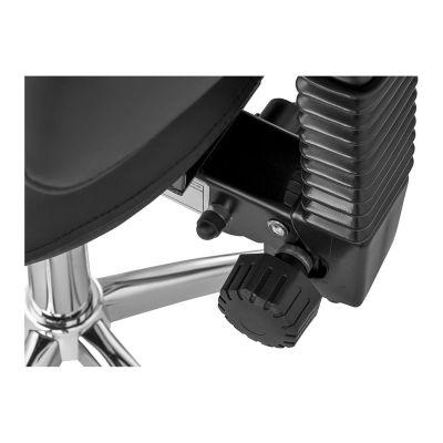 stelwiel van de rug van de ergolution ergonomische zadelkruk met rugleuning zwart