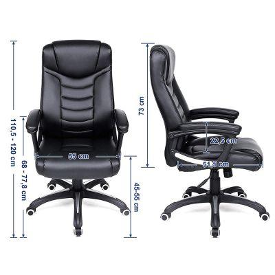 afmetingen van de ergolution luxe design bureaustoel
