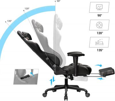 gaming chair footrest