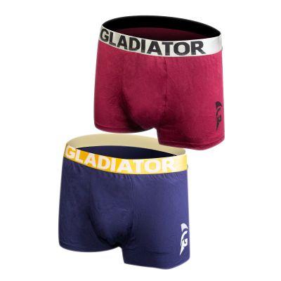 gladiator sports bamboe boxershorts 2 pack blauw paars