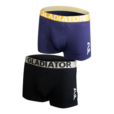 gladiator sports bamboe boxershorts 2 pack blauw zwart