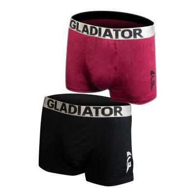 gladiator sports bamboe boxershorts 2 pack zwart paars
