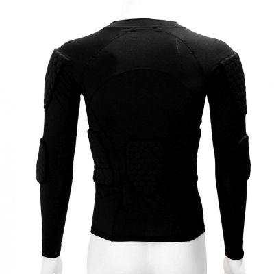 gladiator sports beschermings shirt ondershirt voor keepers van achteren gefotografeerd