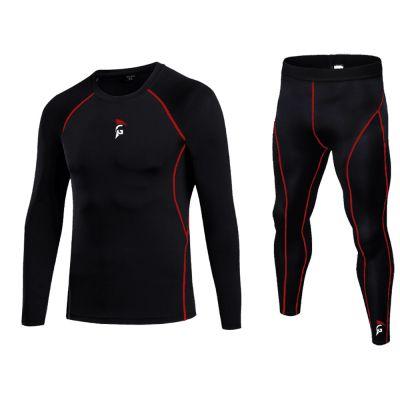 gladiator sports compressiebroek lang en compressie shirt lang dames en heren