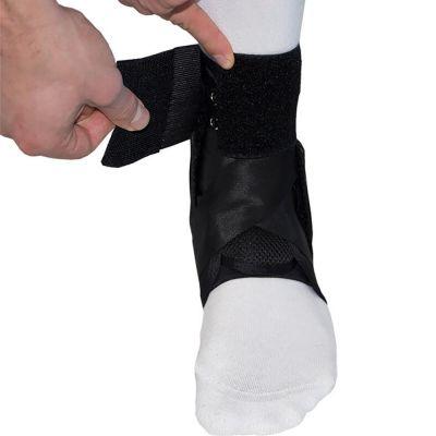 gladiator sports enkelbrace lichtgewicht met straps klittenband strap vastmaken