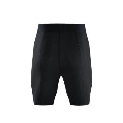 gladiator sports pakket compressiebroek en shirt heren broek in zwart van achteren gefotografeerd