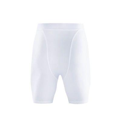 gladiator sports pakket compressiebroek en shirt heren broek in wit van achteren gefotografeerd