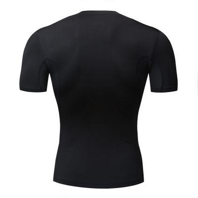 gladiator sports pakket compressiebroek en shirt heren shirt in zwart van achteren gefotografeerd