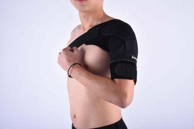 Gladiator sports premium lichtgewicht schouderbrace om linkerschouder gedragen