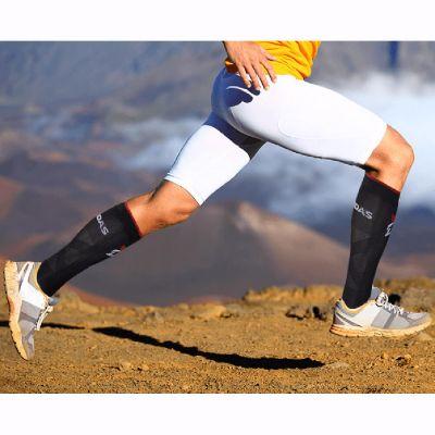 gladiator sports sportcompressiekousen in gebruik gefotografeerd