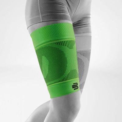 Bauerfeind sportcompressie hamstring sleeve groen