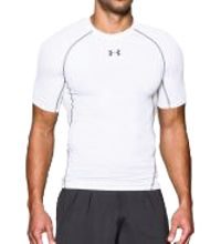 Under Armour HeatGear Compressie shirt - Heren wit