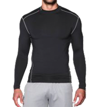 Herenmock Under Armour ColdGear® Compressie Shirt heren zwart