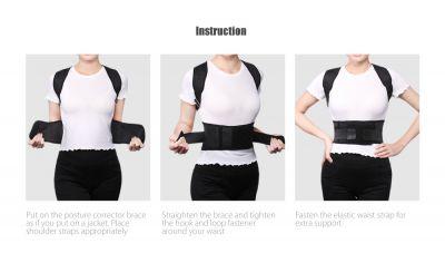 Posture corrector bevestigen