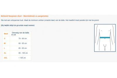 Maattabel McDavid thermal pant - Warmtebroek