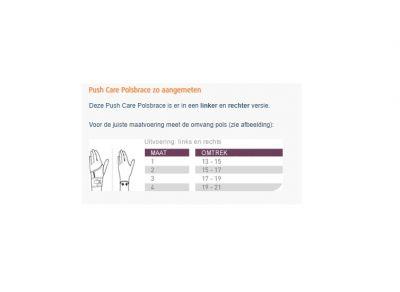 Maattabel Push Care Polsbrace