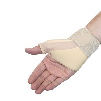 medidu duimbrace duimbandage polsbandage beige gedragen om rechterhand