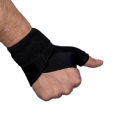 medidu duimbrace duimbandage polsbandage zwart gedragen om rechterhand