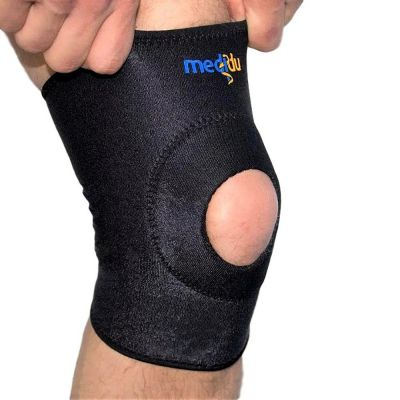 medidu kniebrace gedragen om linkerknie