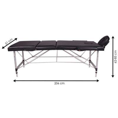 medidu massage tafel aluminium frame inklapbaar afmetingen wanneer uitgeklapt