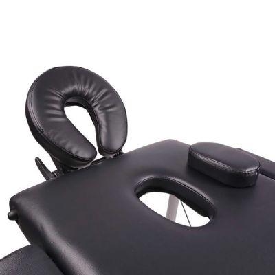 medidu massage tafel aluminium frame inklapbaar hoofdsteun gedeelte van boven gefotografeerd
